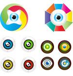 色彩创意眼球