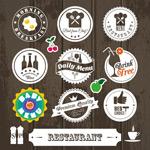 餐馆复古徽章