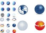 圆形球体图标