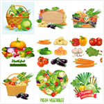 卡通蔬菜设计矢量