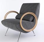 单人沙发座椅模型