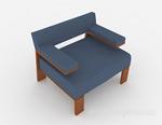蓝色沙发3d模型