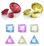 彩色钻石矢量
