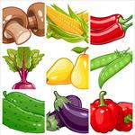 时尚卡通蔬菜