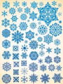 雪花样式矢量图