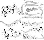音乐五线谱矢量