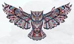 猫头鹰纹身插画