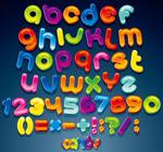 可爱卡通英文字母