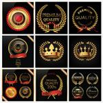 金色质感欧式徽章