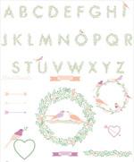 时尚植物字母