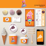 卡通冰淇淋菜单