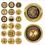 金色vip徽章模板