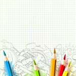 校园涂鸦矢量图