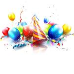 生日礼帽和气球