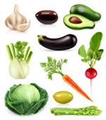 逼真水果蔬菜