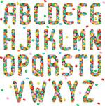 彩色果冻豆字母