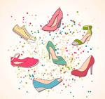 手绘彩色女鞋