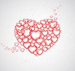 红色爱心气泡