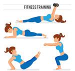 做伸展运动女性