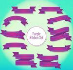 紫色丝带设计