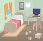 卧室设计矢量