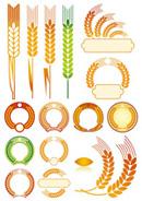 金色麦穗图形