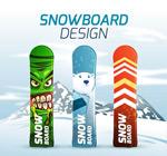 滑雪板矢量