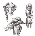手绘女子设计