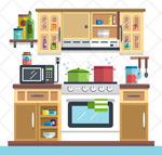 整洁家庭厨房