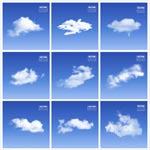 蓝天白云矢量