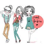 时尚女孩漫画