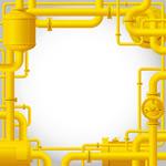 黄色管道矢量
