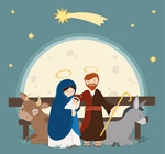 耶稣诞生插画