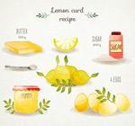 柠檬酱食谱矢量
