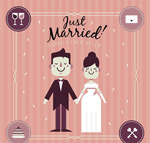 新婚夫妇插画