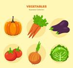 彩色蔬菜矢量图