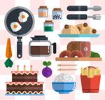 食物和厨具矢量