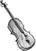 线条黑色小提琴