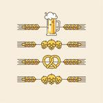 小麦和酒杯图标