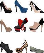 时尚女鞋图标