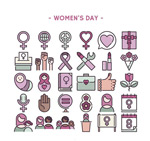 妇女节图标矢量