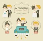 卡通婚礼新人