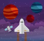 太空探索插画