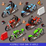 摩托车设计矢量