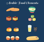 阿拉伯食品矢量