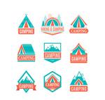 彩色野营标签