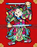 中国年画门神