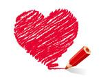彩铅手绘爱心