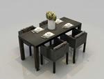 四人餐桌模型
