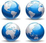 立体蓝色地球